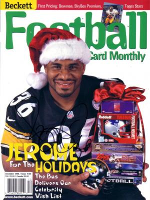 Jerome Bettis autographed Pittsburgh Steelers Beckett Football cover