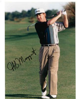 Jeff Maggert autographed 8x10 golf photo