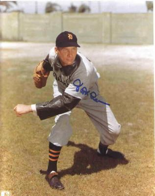 Hal Newhouser autographed 8x10 Detroit Tigers photo