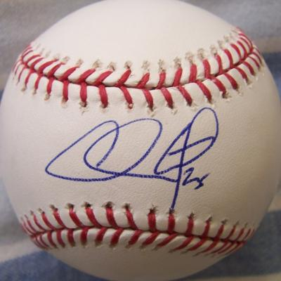 Chase Utley autographed MLB baseball