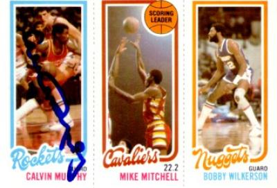 Calvin Murphy autographed Houston Rockets 1980-81 Topps card