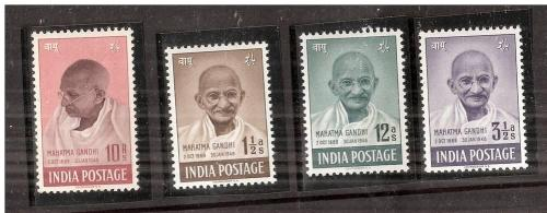 INDIA 1948 MAHATMA GANDHI SET MINT NEVER HINGED
