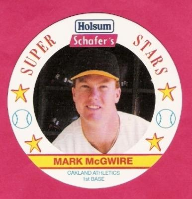 Mark McGwire Oakland A's 1989 Holsum disc