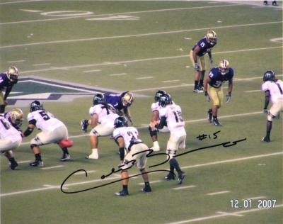 Colt Brennan autographed Hawaii 8x10 photo