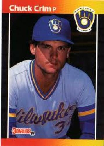 Baseball Card; MILWAUKEE BREWERS - Chuck Crim #617