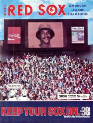 Jim Rice Boston Red Sox 1976 game program