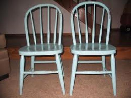 Antique White Heywood Wakefield Chairs