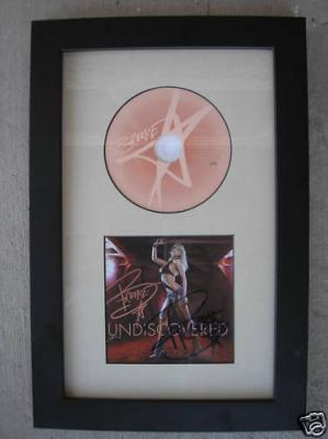 Brooke Hogan autographed Undiscovered CD booklet framed with CD