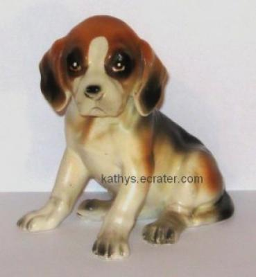 Lefton China Sitting Beagle Puppy Dog Animal Figurine