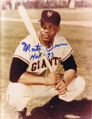 Monte Irvin autographed 8x10 New York Giants photo inscribed HOF 73