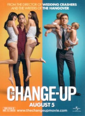 Change-Up movie promo card (Jason Bateman Ryan Reynolds)