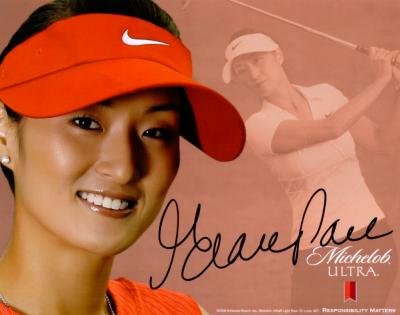 Grace Park autographed LPGA 8x10 photo card