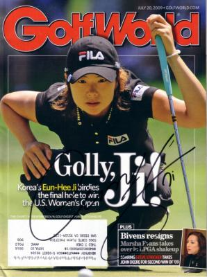 Eun-Hee Ji autographed 2009 U.S. Women's Open Golf Week magazine