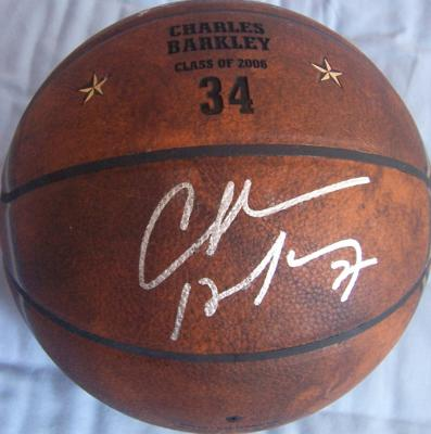 Charles Barkley autographed 2006 Hall of Fame basketball
