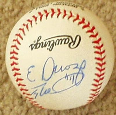 Erubiel Durazo Matt Mantei Tony Womack (Diamondbacks) autographed NL baseball