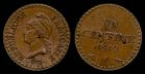 1 centime; Year: 1848-1851; (km 754)
