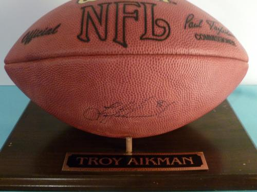 Football NFL Signed by Troy Aikman