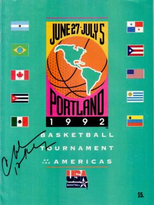 Charles Barkley autographed 1992 USA Dream Team Tournament of the Americas program