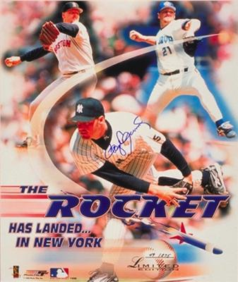 Roger Clemens autographed New York Yankees 16x20 poster size photo