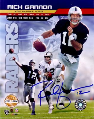 Rich Gannon autographed 8x10 Oakland Raiders photo
