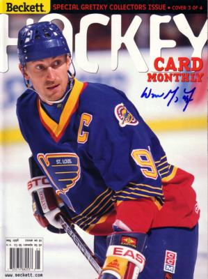 Wayne Gretzky autographed St. Louis Blues 1998 Beckett Hockey magazine
