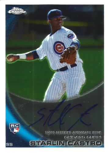 2010 Topps Chrome Rookie Autographs #195 Starlin Castro