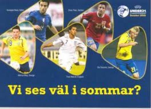 UEFA Under 21 Championship in Sweden 2009 Germany v England postcard