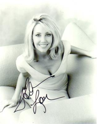Heather Locklear autographed 8x10 black and white photo