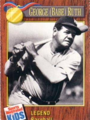 Babe Ruth 1990 Sports Illustrated for Kids card