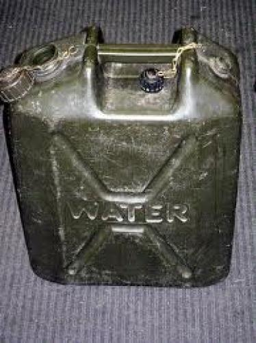Militaria;  English Military Water Container. Heavy plastic