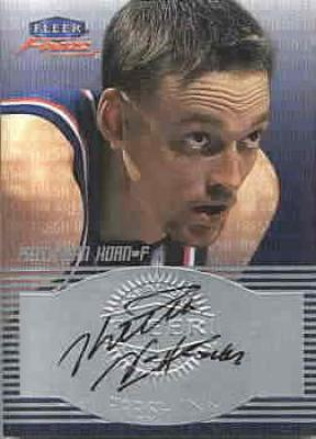 Keith Van Horn certified autograph New Jersey Nets Fleer card