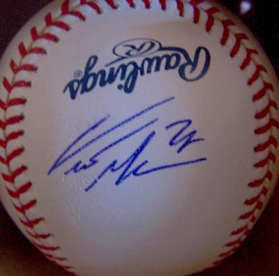 Curtis Granderson autographed MLB baseball
