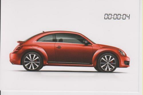 VW Volkswagen Beetle 2012 postcard