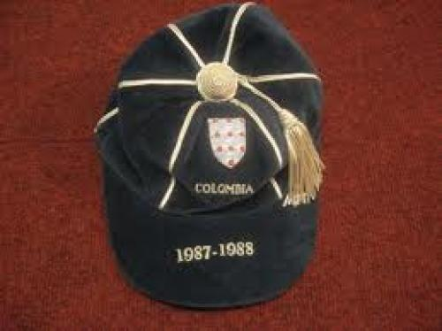 Memorabilia; Cap Colombia 1987-1988 Football Memorabilia, in mint condition