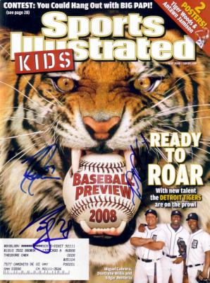Miguel Cabrera Curtis Granderson Todd Jones autographed Detroit Tigers 2008 SI for Kids