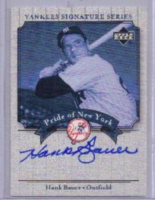 Hank Bauer certified autograph New York Yankees Upper Deck card