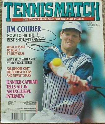 Jim Courier autographed Tennis Match magazine cover