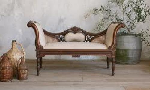 Antiques;  French Louis XV Settee Banquette Antique Vintage 1940's