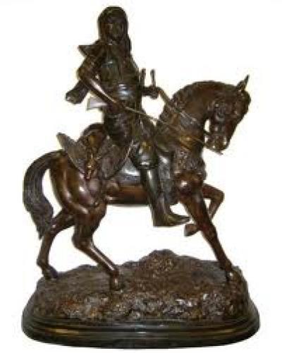 Orientalist Arab Hunter Bronze Sculpture