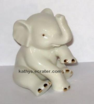 Lenox Ivory China Sitting Elephant Animal Figurine