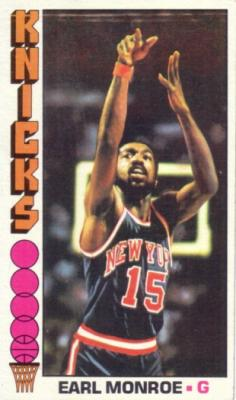 Earl Monroe 1976-77 Topps card
