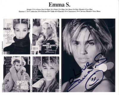 Emma Sjoberg Wiklund autographed photo card