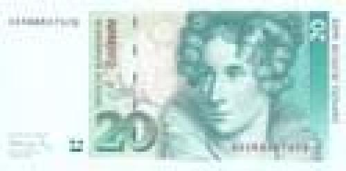 Germany,  Federal   Republic; 20 Deutsche Mark; Issue of 1991