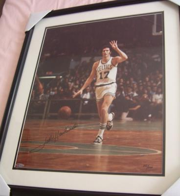 John Havlicek autographed Boston Celtics 16x20 poster size photo ltd edit 500 UDA