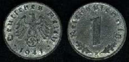 1 reichspfennig 1940-1945 (km 97); zinc