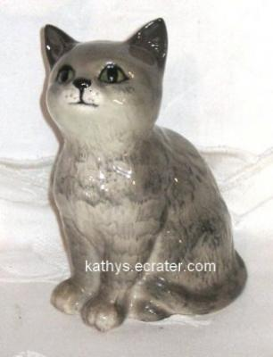 Beswick England Gray Tabby Tiger Cat Animal Figurine
