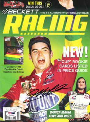 Jeff Gordon autographed 2006 Beckett Racing magazine