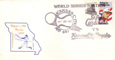 1985 World Series (Kansas City Royals vs. St. Louis Cardinals) cachet envelope