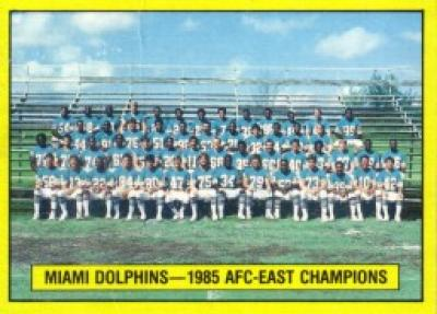Miami Dolphins 1985 AFC East Champions 1986 Topps wax box card