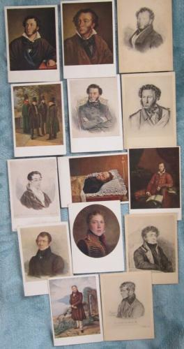 Set of 14 vintage unused Russian postcards 1937